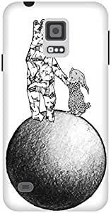 The Racoon Grip The Moon Rescue hard plastic printed back case / cover for Samsung Galaxy S5