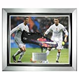 Signed Cristiano Ronaldo Deluxe Framed Black CR7 Boot - Real Madrid - Autographed Soccer Cleats