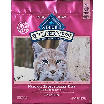 Image of Blue Buffalo Wilderness Salmon Adult Dry Cat Food