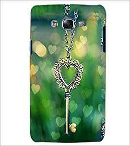 PrintDhaba Heart Pendant D-2463 Back Case Cover for SAMSUNG GALAXY ON 7 (Multi-Coloured)