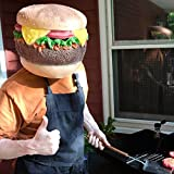 Adult Deluxe Cheeseburger Fast Food Full Head Mask