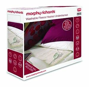 Morphy Richards 75182 Fleece Washable Electric Underblanket Dual Controls - King
