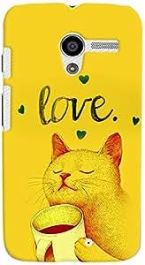 PrintVisa Cartoon Kitty Love Case Cover for Moto X