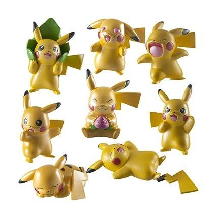 Pokemon - T18725 - 20 ème Anniversaire - Pack de 4 Mini Figurines - Pikachu