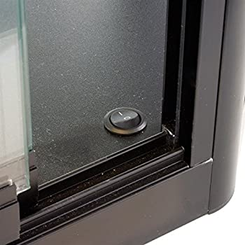 Glass Display Case That Is Wall Mounted, Illuminated, Has Locking Sliding Glass Doors, And Ships Fully Assembled