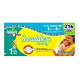 Pampers Swaddlers, Size 1, 216 Count ~ Pampers