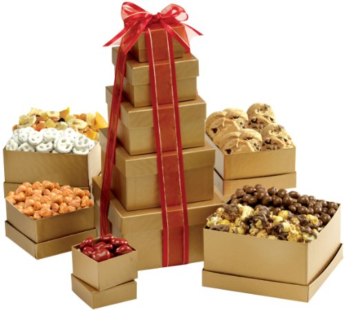 Broadway Basketeers Gift Tower of Sweets (Kosher)