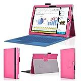 wisers タッチペン・OTGケーブル・保護フィルム付 Microsoft Surface 3 タブレット 専用 ケース カバー ピンク