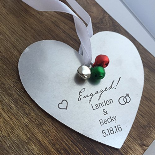 Engaged Christmas Ornament Christmas Tree Decoration Personalized Names Year Engaged Gift Wedding Gift For Just Engagement For Engagement