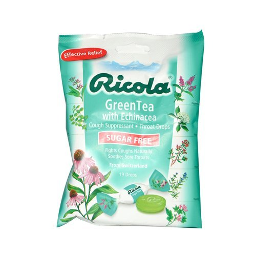 Ricola Drops,S/F,Green Tea 19 Ct 12-Cs