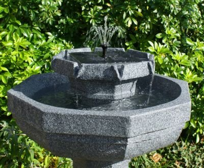 Small Solar Powered Water Feature Bird Bath with Lights PC221
