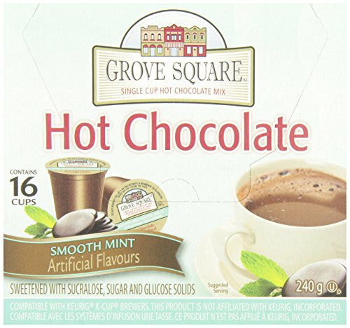 Grove Square Smooth Mint Hot Chocolate, 16-Count, 240gm