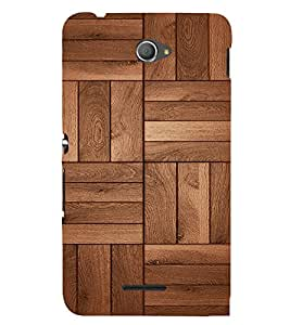 Beautiful Wood Design Cute Fashion 3D Hard Polycarbonate Designer Back Case Cover for Sony Xperia E4 Dual