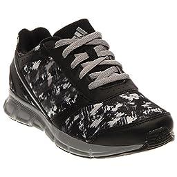 adidas Performance Hyperfast Running Shoe (Little Kid/Big Kid),Black/Mid Grey/Silver ,1 M US Little Kid