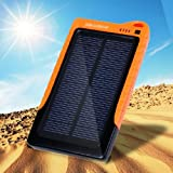 Poweradd™ LE016 High Capacity 7200mAh Monocrystalline Silicon Solar Panel Environment Friendly Portable Charger Battery Power Bank for Apple iPhone 5S 5C 5 4S 4 3GS 3G, iPod Touch, iPad 1 2 3 4 Mini, Samsung Galaxy Note 3 S4 S3 S2 Note 2,Blackberry Torch Bold Curve;HTC One EVO Thunderbolt Incredible Droid DNA,Motorola ATRIX, Droid,LG Optimus V 2X 3D T,Motorola Droid Razr X 3 2 Bionic, Atrix 2, Triumph,Google Nexus 4 Nexus 7 Nexus 10,LG Optimus; For Kindle Paperwhite, Touch, Kindle and MP3, MP4, GPS, Camera, Game Player