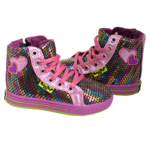 Western Chief Rainbow Glitz Hi-Top Sneaker (Toddler/Little Kid),Multi,11 M Us Little Kid front-964682