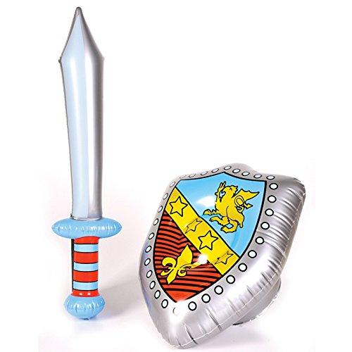 ナイト 騎士 になれる? 浮き袋 タイプ の 剣 と 盾 の セット ソード & シールド (剣長さ:62cm 盾:45×32cm) コスプレ 小道具 (ナイト 騎士)