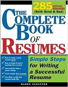 resume writing book