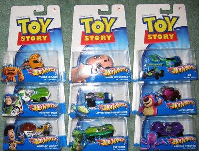 Disney Pixar Toy Story 3 Hot Wheels Die Cast Vehicles Set Of 9 - Hot Toys