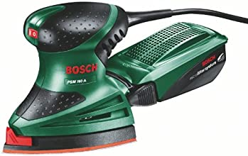 Bosch PSM 160 A HomeSeries Multischleifer + 3 Schleifblätter (160 W, Microfilter System)