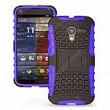 Heartly Flip Kick Stand Hard Dual Armor Hybrid Bumper Back Case Cover For Google Motorola Moto X - Purple