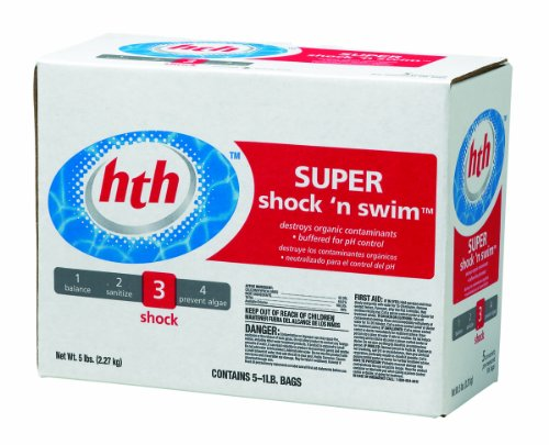 Hth 51424-06 Super Shock And Swim Powder For Swimming Pools, 1-Pound, 30-Pack
