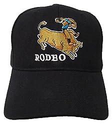 Rodeo Cowboy Theme Black Hat (Rodeo Bull Rider)