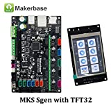 Beshine 3D Printer Parts Smoothieboard MKS SGen Controller Board Smoothiewaere with MKS TFT32 V4.0 Touch Screen MKS SBASE Upgraded