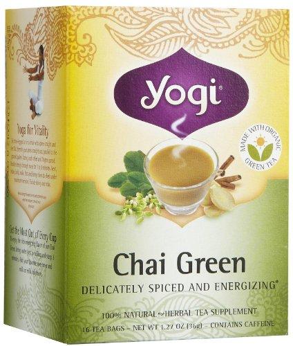 Yogi Tea Chai Green, Herbal Supplement, Tea Bags, 16 Ct