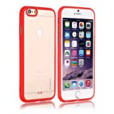 AirPlus AirCase Transparent Back Case With Anti Slip Soft Rubber Bumper For Apple IPhone 6 [RED]