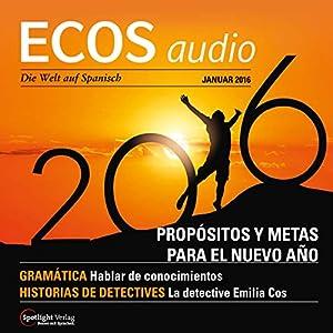 ECOS audio - Propósitios y metas para el Nuevo Año. 1/2016 Hörbuch