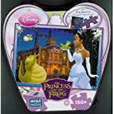 Disney Princess And The Frog Night Scene 150 Piece Puzzle And Heart Shaped Tin Box