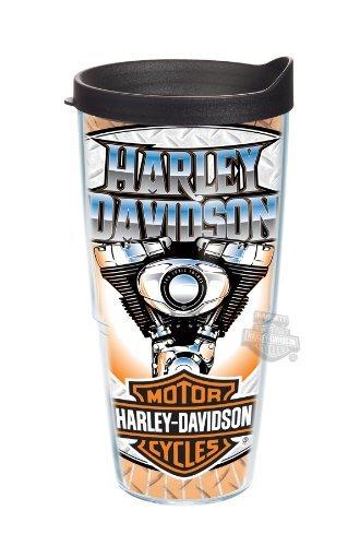 Harley-Davidson Live Free Ride Hard Engine Wrap 24Oz Tervis Tumbler - 24 Oz Cup front-921513