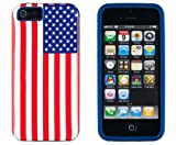 DandyCase 2in1 Hybrid High Impact Hard USA American Flag Pattern + Blue Silicone Case Case Cover For Apple iPhone 5S & iPhone 5 (not 5C) + DandyCase Screen Cleaner Reviews