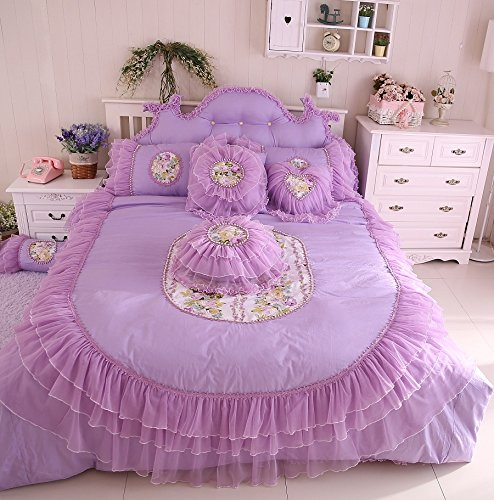 Fadfay Home Textile,Korean Bedding Set,Princess Bedding Queen Size,Girls Lace Ruffle Bedding Set front-120773