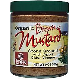Eden Organic Brown Mustard 9 oz