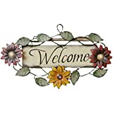 Your Hearts Delight Floral Welcome Wall Hanging, 12 by 7-Inch