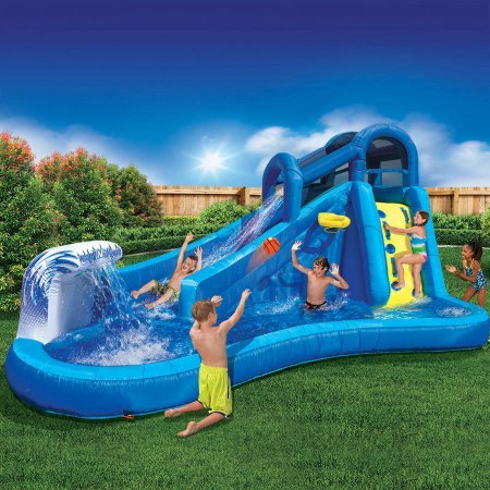 Best Outdoor Inflatable Waterslide for Kids | Banzai Surf 'N Splash Water Park (Giant Slide Rule compare prices)