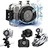 """eSynic® 2"""" Touch Screen Sports Camera - 10M Waterproof Action Camera DVR Recorder Camcorder DV- Best Choice for Bike Helmet Diving Climing Car Record Action"""