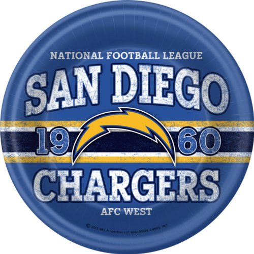 San Diego Chargers Dinner Plates