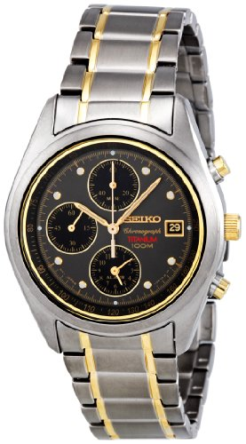 Seiko SNA559P1 Titanium Alarm Chronograph Men's Watch