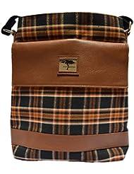 Ashwood - Pure Genuine Real Leather Handmade Unisex Crossover Shoulder Messenger Fashionable Trendy Sling Bag