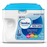 Similac Advance Non-GMO Infant Formula with Iron, Stage 1, 23.2 Ounce Powder (Pack of 6)