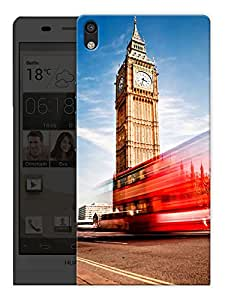 "Humor Gang London Big Ben Love Printed Designer Mobile Back Cover For ""Huawei Acsend P6"" (3D, Matte, Premium Quality Snap On Case)"