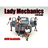 """""""Lady Mechanics"""" 4 Piece Figure Set For 1:24 Scale Models By American Diorama 23959-23960-23961-2396"""