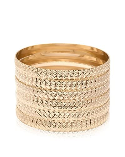 Sevil 6-Piece Set of 18K Gold-Plated Bangles