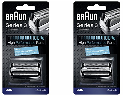 BRAUN 32S Series 3 Shaver Foil and Cutter Head Replacement Cassette, 2 Count (Braun 380 Replacement compare prices)