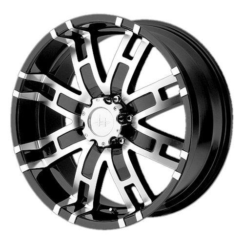 Helo HE835 Gloss Black Machined Wheel - (17x8