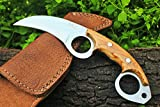 """DKC-87 OWL FOX D2 Steel Skinner Hunting Knife 8""""Long 6.2oz High Class Looks Incredible Feels Great In Your Hand And Pocket Hand Made DKC Knives TM"""