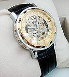 Winner 3 色 メンズ 機械 式 手巻き 腕 時計 スケルトン デザイン 高級 ウォッチ アナログ (ゴールド)